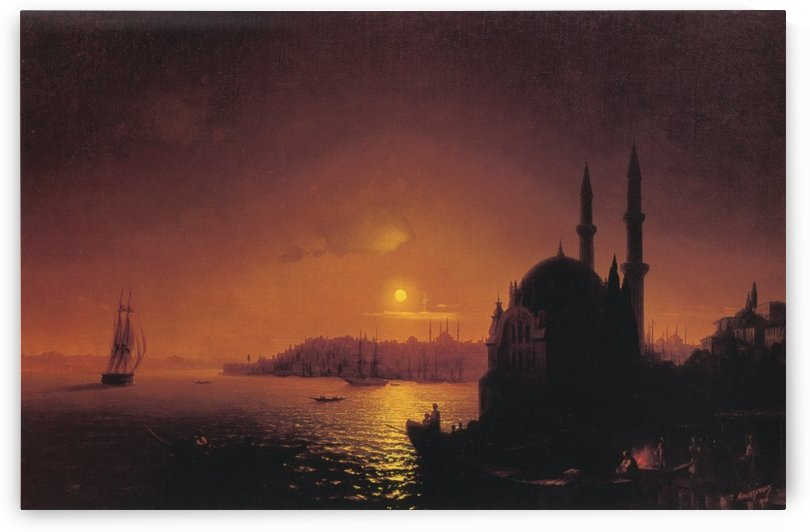 View of Constantinople by Moonlight by Ivan Aivazovsky