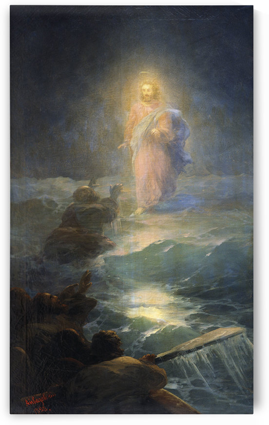 Jesus walks on water by Ivan Aivazovsky