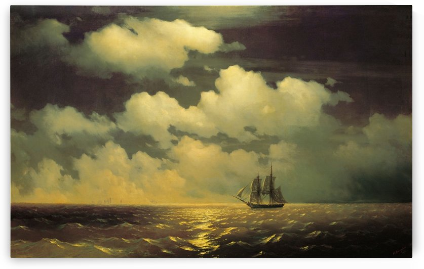 Meeting of the Brig Mercury with the Russian Squadron After the Defeat of Two Turkish Battleships by Ivan Aivazovsky