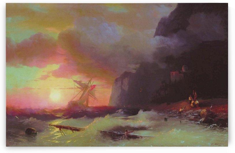 A Shipwreck near Mount Athos by Ivan Aivazovsky