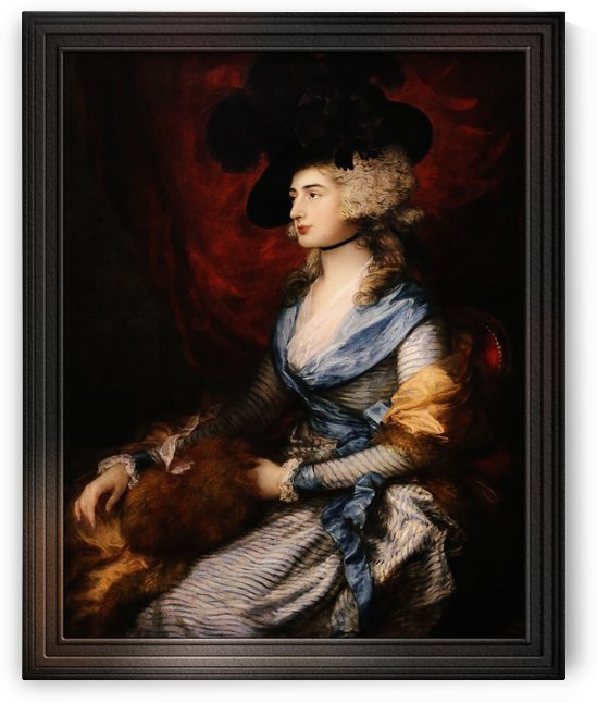 Mrs Siddons by Thomas Gainsborough Old Masters Fine Art Reproduction by xzendor7