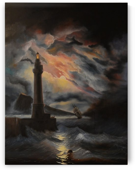 Neapolitan Lighthouse by Ivan Aivazovsky