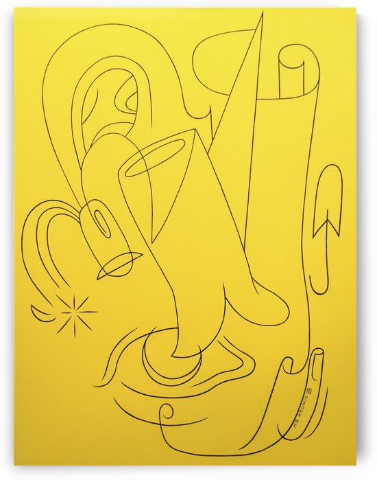 Yellow_abstract_mr_atomic by Mr  Atomic Art