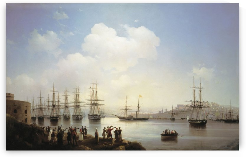 Russian squadron on the raid of Sevastopol by Ivan Aivazovsky
