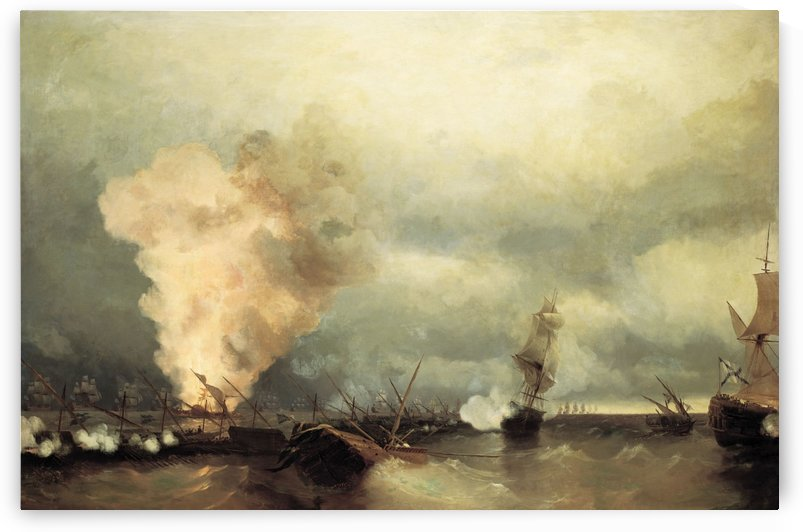Sea battle near Vyborg by Ivan Aivazovsky