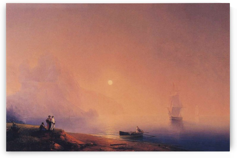 Crimean Tartars on the Sea Shore by Ivan Aivazovsky