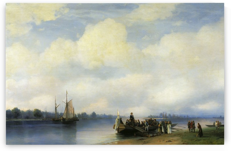 Arrival of Peter I on the Neva by Ivan Aivazovsky