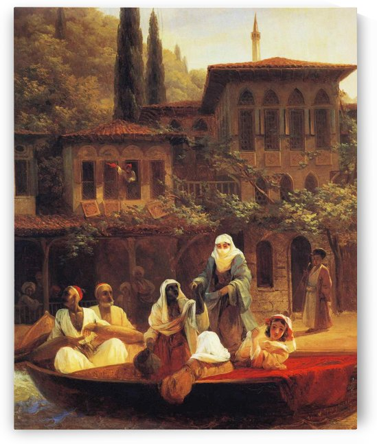 Boat Ride by Kumkapi in Constantinople by Ivan Aivazovsky