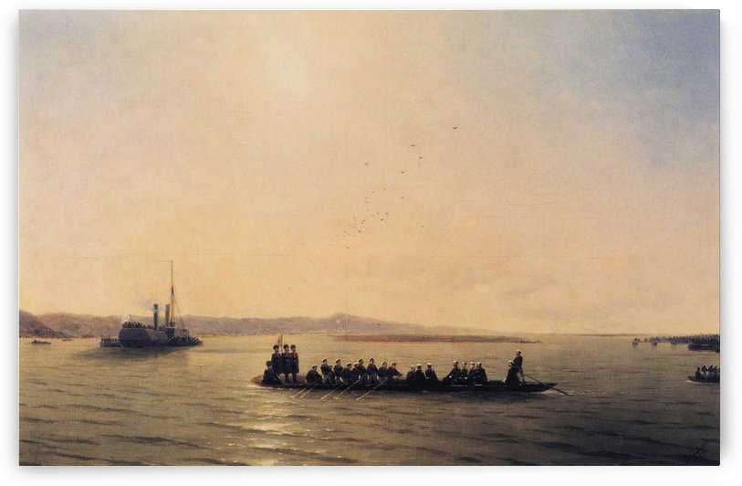 Alexander II Crossing the Danube by Ivan Aivazovsky