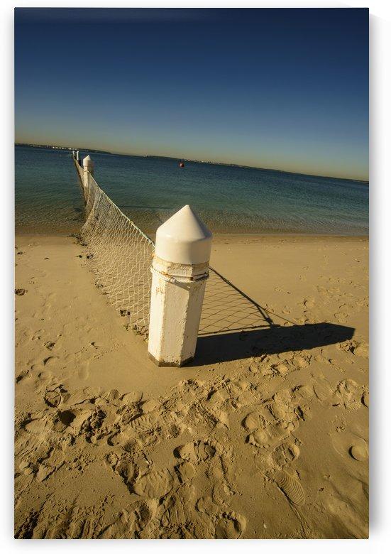 Shark Net Corner Post Perspective Brighton le Sands Australia. by Downundershooter