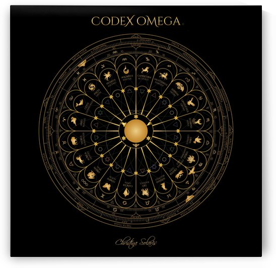 OMEGA CODEX 24 INCH BLACK POSTER by CHRISTINA SOLARIS
