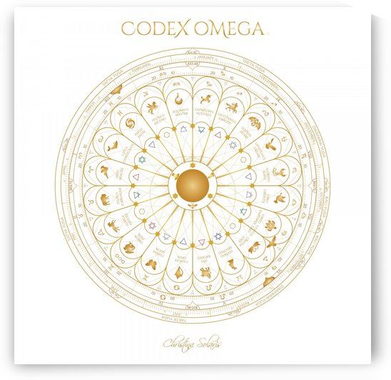 OMEGA CODEX WHITE DIAGRAM: YOUR CUSTOM SIZE by CHRISTINA SOLARIS