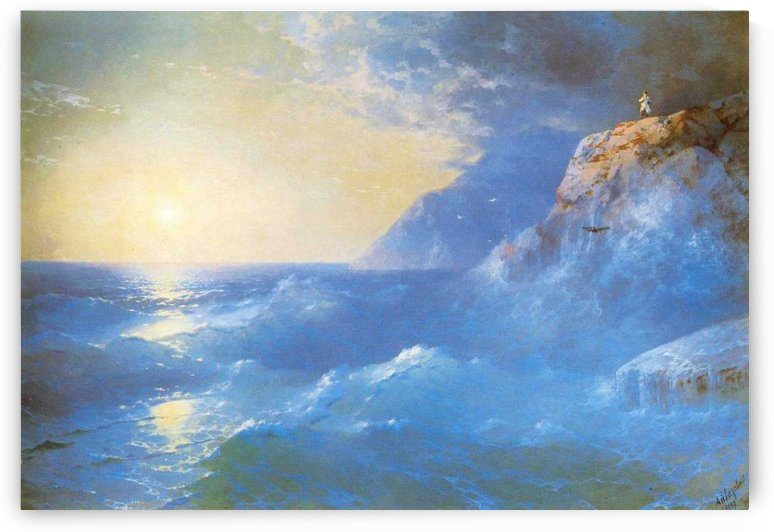 Napoleon on island of St. Helen by Ivan Aivazovsky