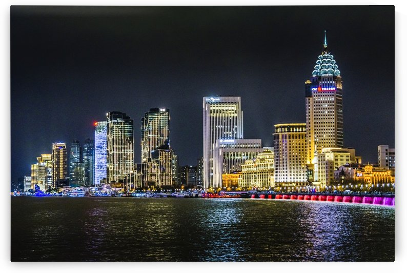 Pudong District Night Scene Shanghai   China by Daniel Ferreia Leites Ciccarino