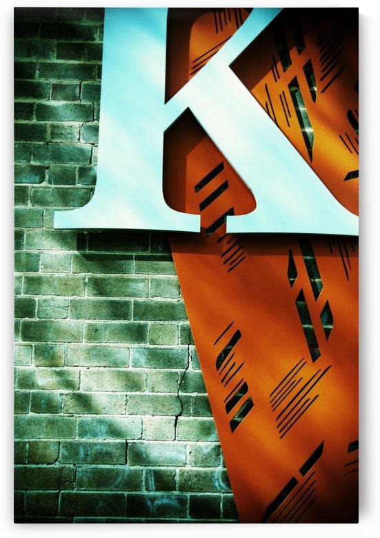 Letter K on wall by Downundershooter
