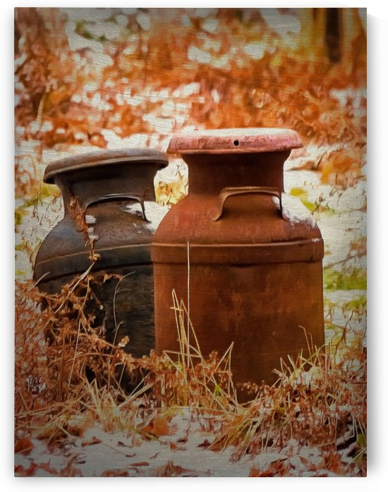 Got Milk Cans by Leslie Montgomery