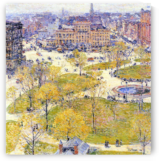 Union Square in Spring by Hassam by Hassam