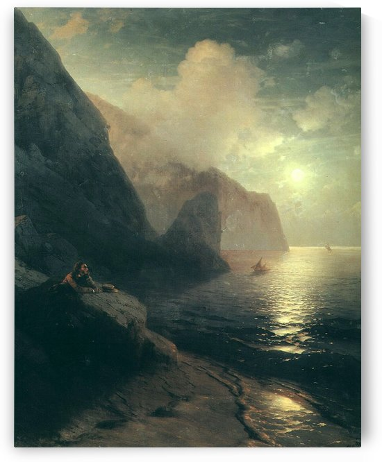 Pushkin in the Crimea at Gurzuf rocks by Ivan Aivazovsky