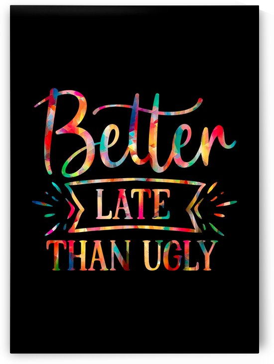 Better Late than Ugly by Artistic Paradigms