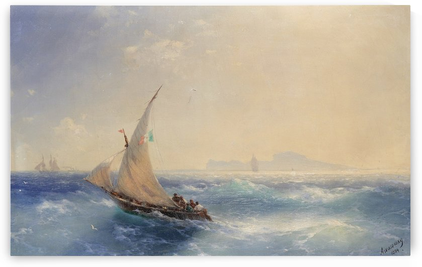 Shipping off the island of Ischia by Ivan Aivazovsky