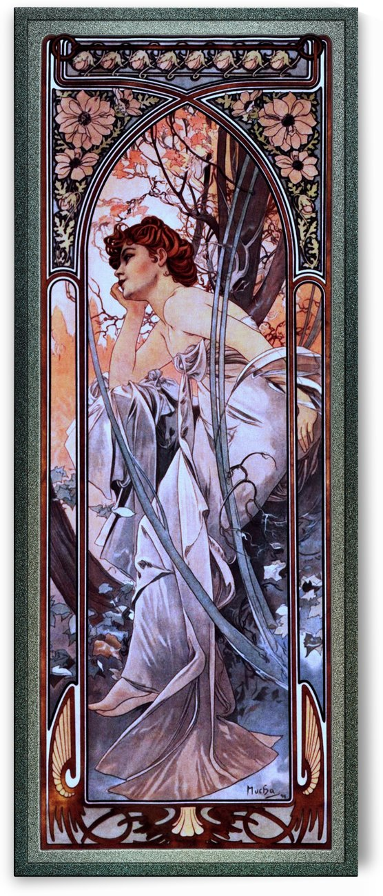 Evening Reverie by Alphonse Mucha by xzendor7