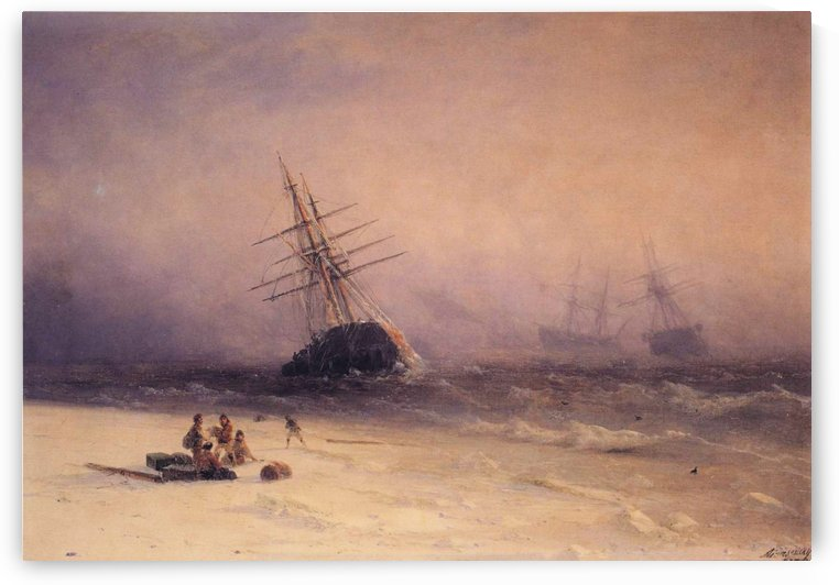 The Shipwreck on Northern sea by Ivan Aivazovsky