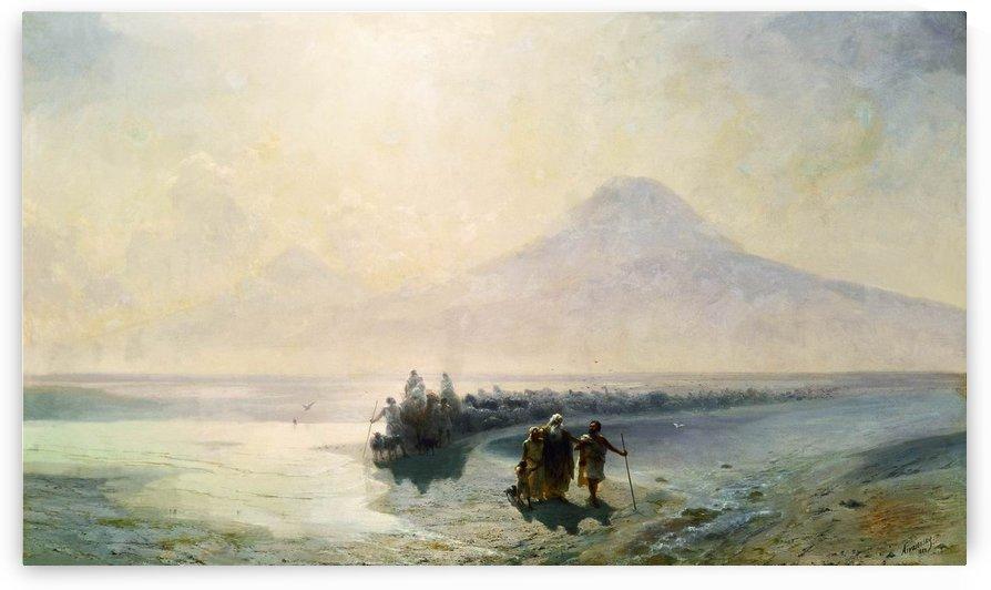 Dejection of Noah from mountain Ararat by Ivan Aivazovsky