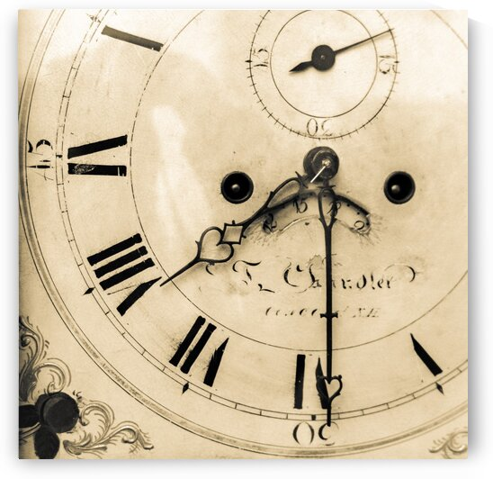 Antique Grandfather Clockface by Dave Therrien