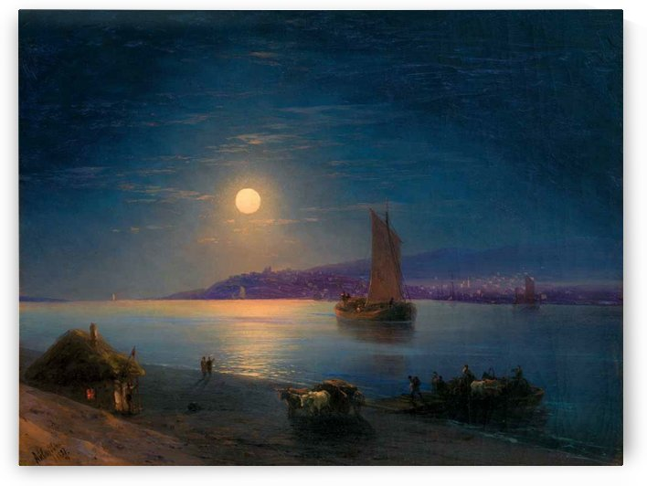 Night at the sea by Ivan Aivazovsky