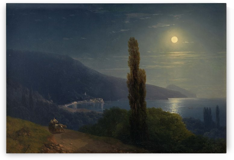 Moonlight by the sea by Ivan Aivazovsky