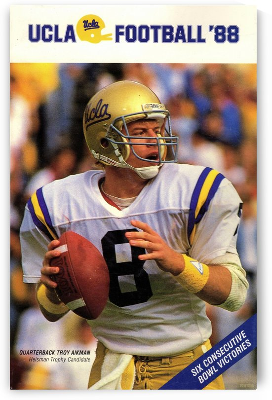 1988 Troy Aikman UCLA Football Poster Sale by Row One Brand