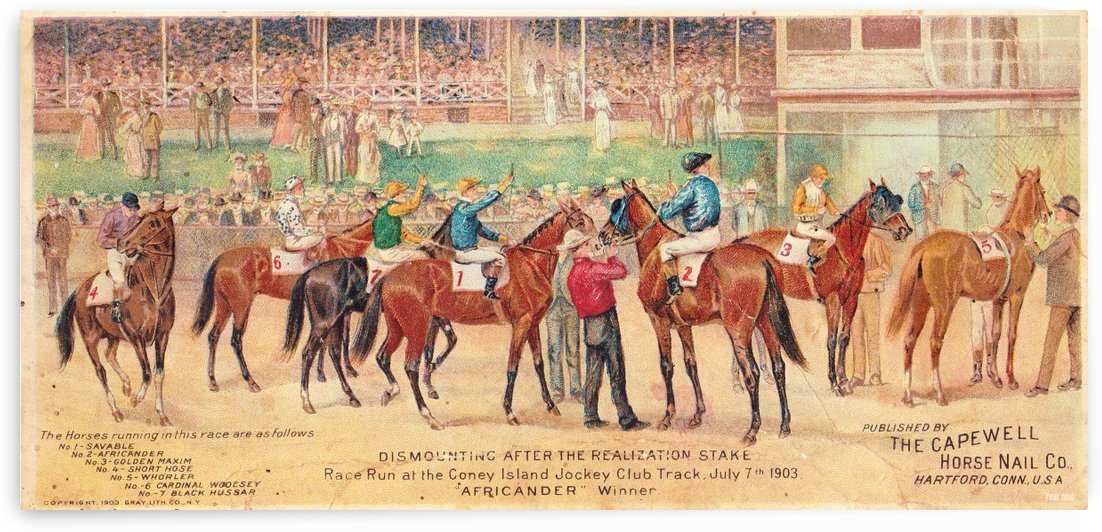1903 Horse Race by Row One Brand