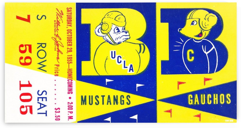 1955 UCLA  vs. Cal  by Row One Brand