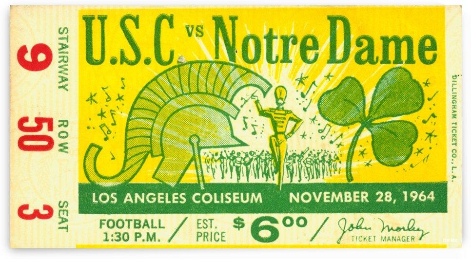 1964 USC v Notre Dame by Row One Brand