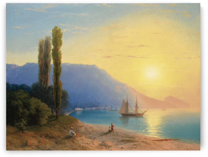 Sunset over Yalta by Ivan Aivazovsky