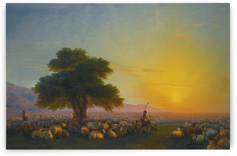 Sheeps in the sun by Ivan Aivazovsky