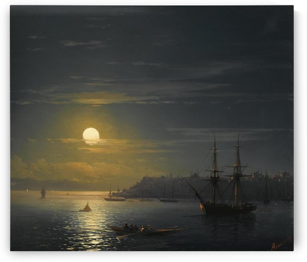 View of Constantinople in Moonlight by Ivan Aivazovsky