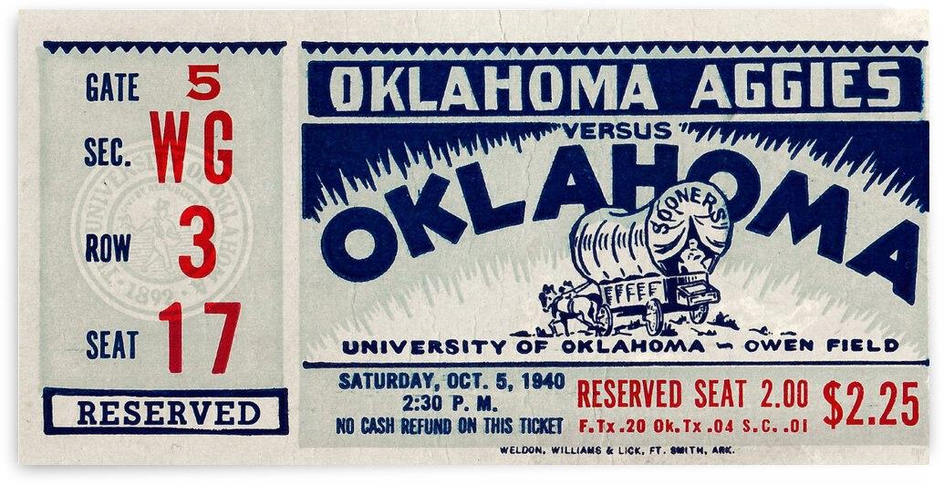 1940 Oklahoma A&M vs. Oklahoma Sooners | Row 1 by Row One Brand