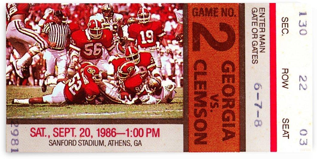 1986 Clemson Tigers vs. Georgia Bulldogs Football Ticket Art by Row One Brand