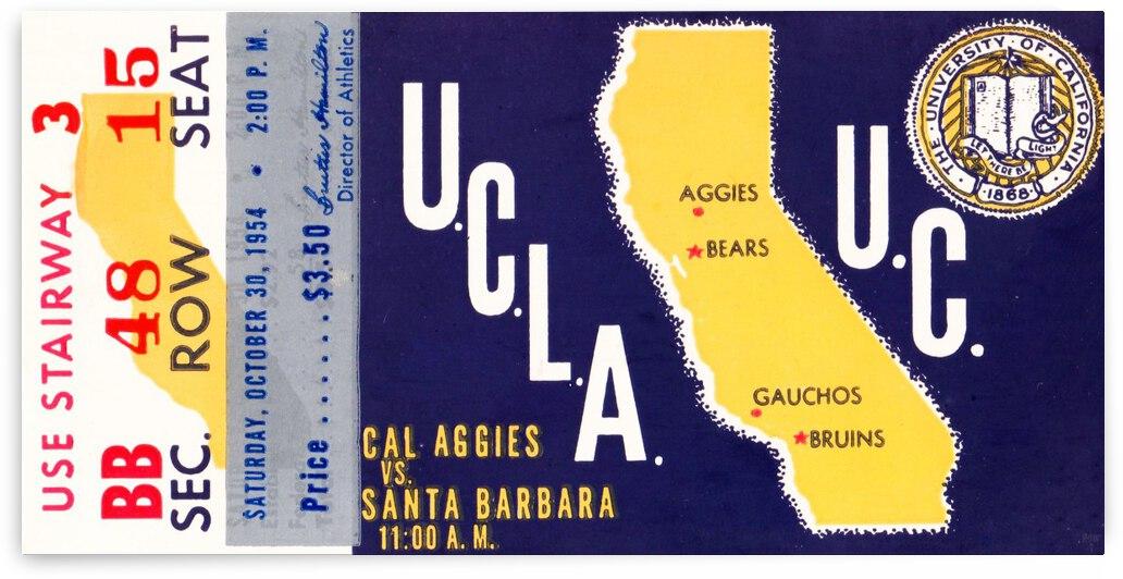1954 UCLA Bruins vs. California Bears by Row One Brand