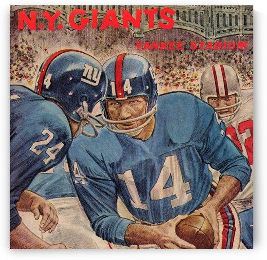 1963 New York Giants Football Program Art by Row One Brand