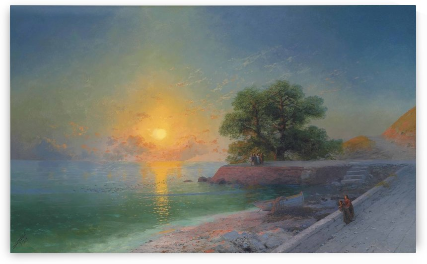 Promenade at sunset by Ivan Aivazovsky