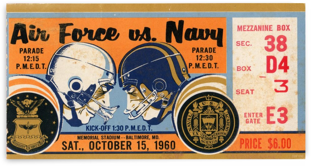 1960 Air Force vs. Navy by Row One Brand