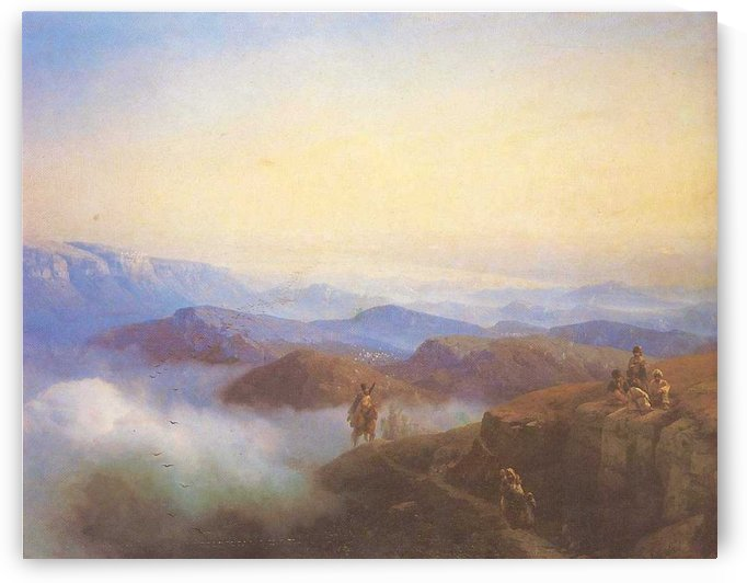 Range of the Caucasus mountains by Ivan Aivazovsky