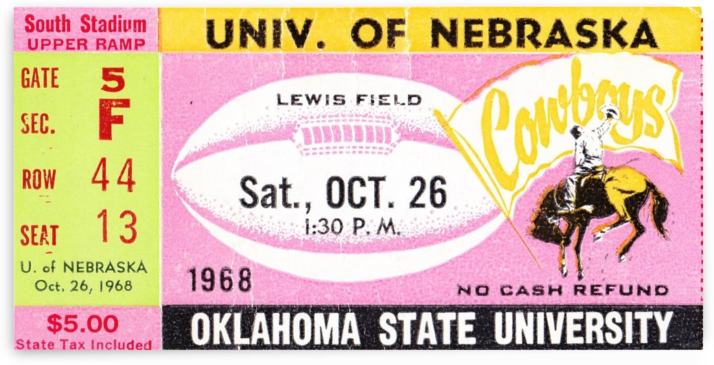 1968_College_Football_Nebraska vs. Oklahoma State_Lewis Field_Stillwater_Row One Brand by Row One Brand