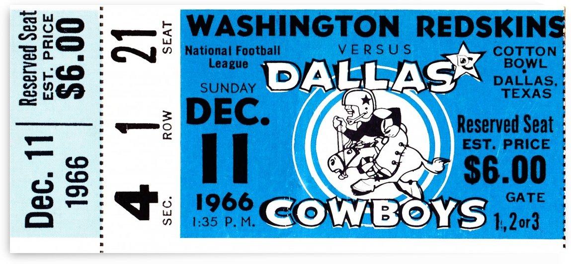 1966 Washington vs. Dallas by Row One Brand