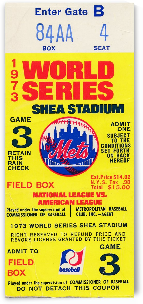 1973_Major League Baseball_World Series_New York Mets vs. Oakland As_Shea Stadium_Row One Brand by Row One Brand