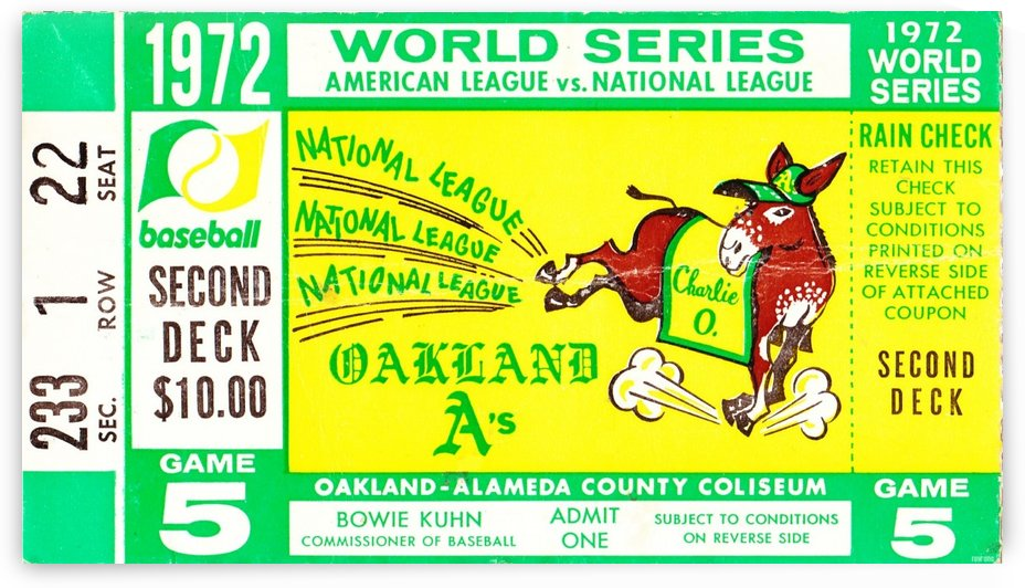 1972_Baseball_World Series_Cincinnati Reds vs. Oakland As_Oakland Alameda Coliseum_Row One by Row One Brand