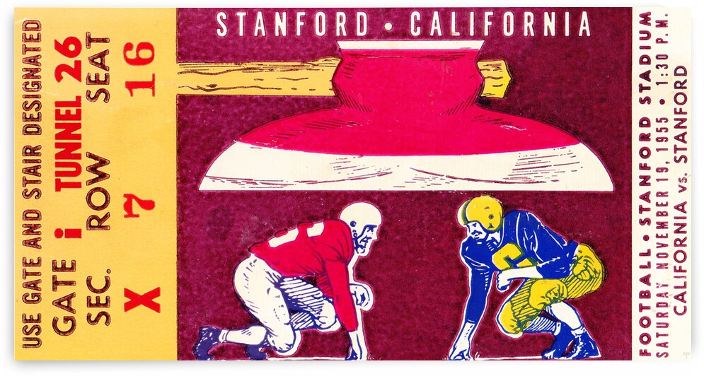 1955_College_Football_California vs. Stanford_Stanford Stadium_Row One by Row One Brand