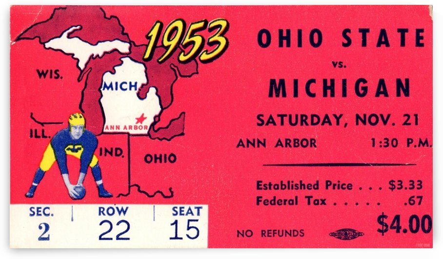 1953_College_Football_Ohio State vs. Michigan_Michigan Stadium_Ann Arbor_Row One by Row One Brand